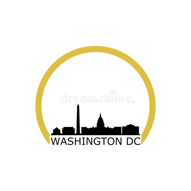 DC de Washington blanc de maison d'illustration, logo de b?timent de capitol illustration de vecteur