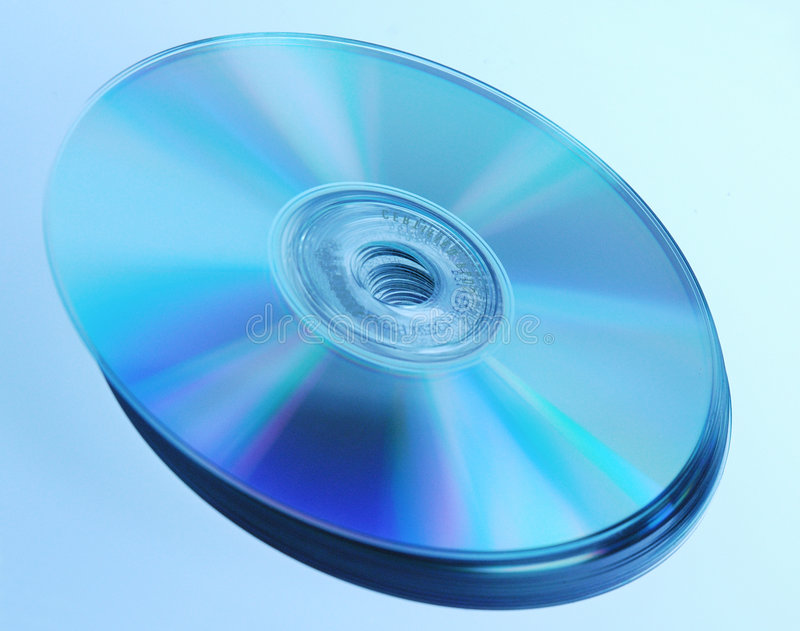 DC DISC 1. CD Disc with optical colours stock photo
