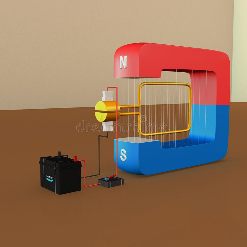 DC generator ilustracja wektor