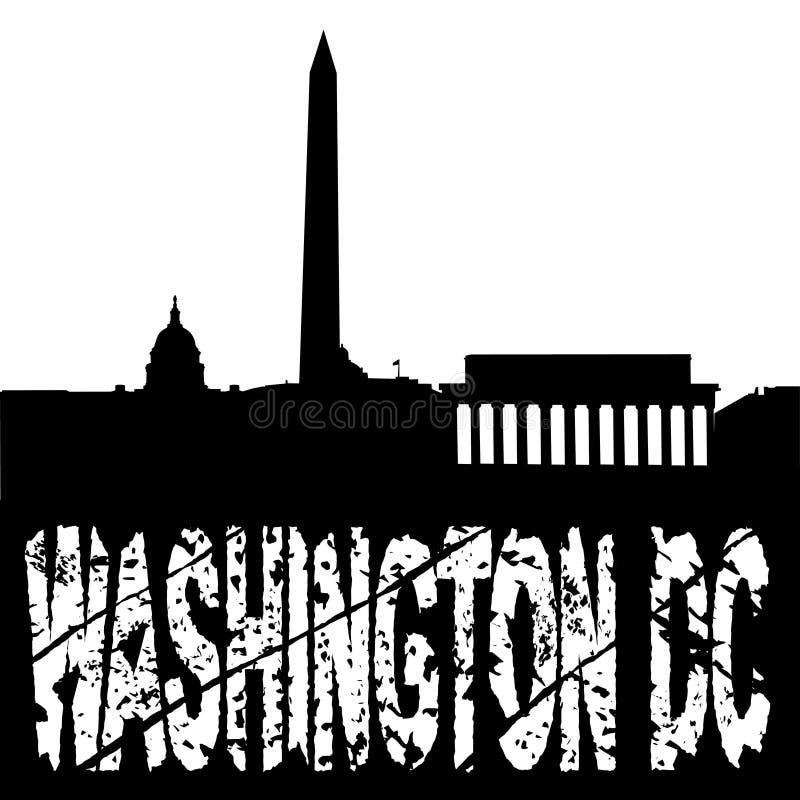 dc grunge linia horyzontu Washington ilustracji