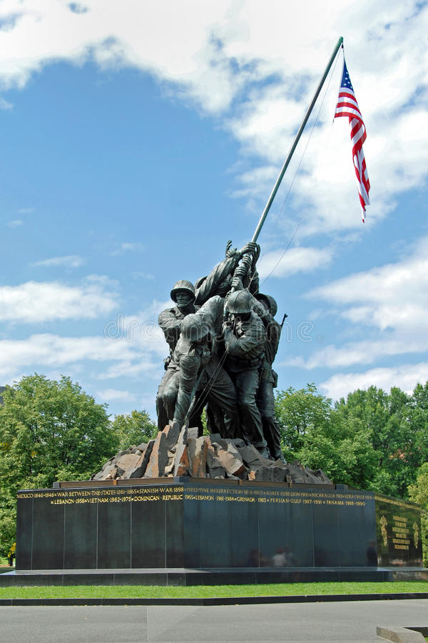 dc Iwo Jima纪念品华盛顿 库存照片