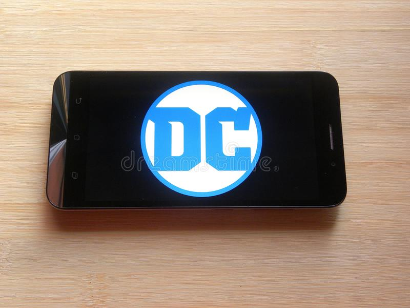 DC komiczki app fotografia stock