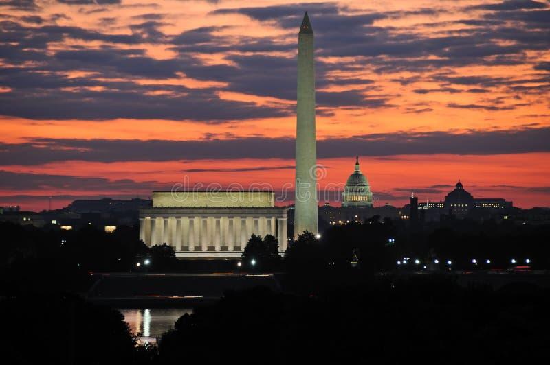 dc linia horyzontu Washington fotografia stock