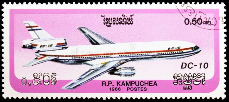 DC-10 McDonnell Douglas, serie воздушных судн, около 1986 стоковые фотографии rf