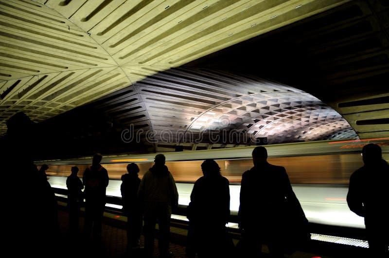 dc-metrotunnelbana washington royaltyfria foton