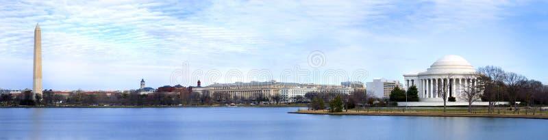 dc panorama- washington royaltyfria bilder