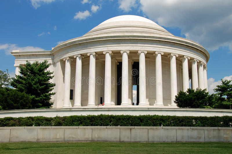 dc pomnik Jefferson Washington obrazy stock