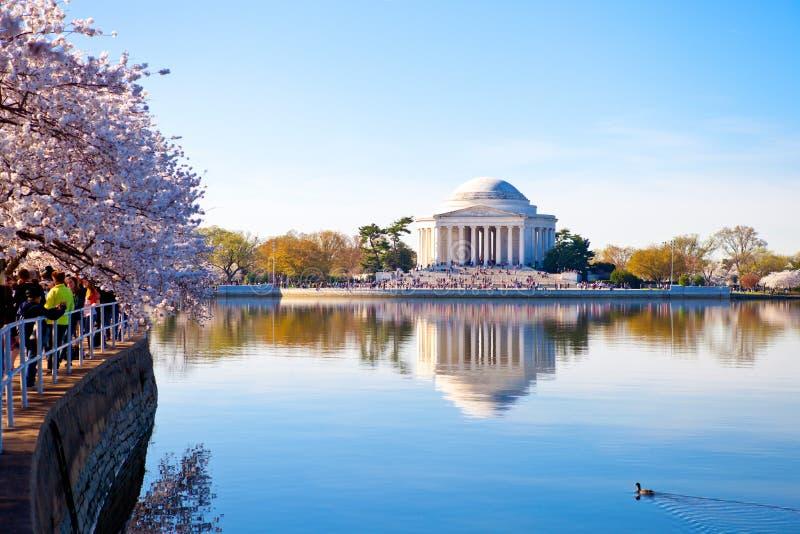 dc pomnik Jefferson Washington zdjęcie royalty free