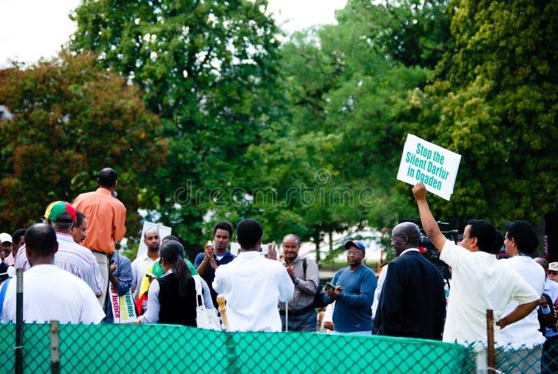 DC-Protestors lizenzfreies stockfoto