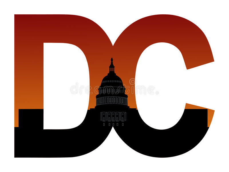 DC with US capitol building vector illustration