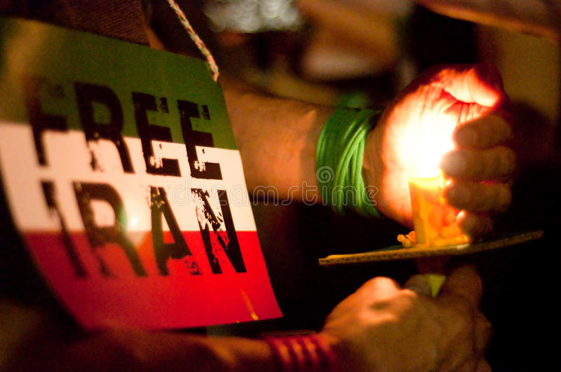 Download DC Vigil for Iran editorial photo. Image of movement - 10070596