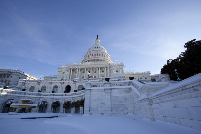 dc zima Washington obraz stock