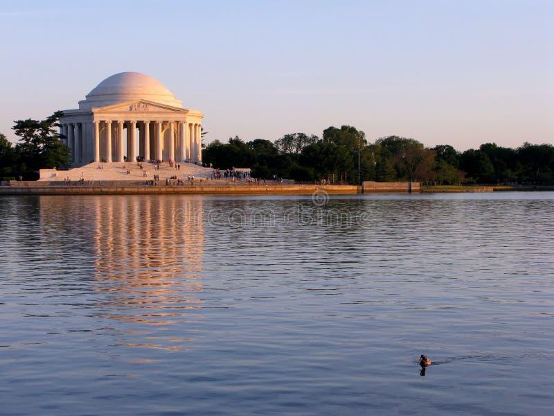 dc zmierzchu Jefferson memorial Washington zdjęcia royalty free