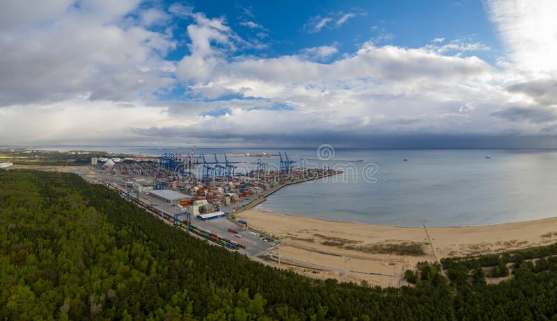DCT-containerterminal stock afbeelding