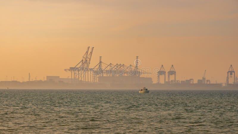 DCT Gdansk, Polônia Terminal de águas profundas imagem de stock royalty free