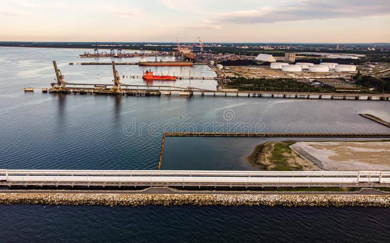 DCT port Gdansk royalty free stock images