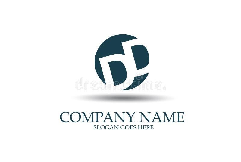 DD abstracta Logo Design Vector de la letra stock de ilustración