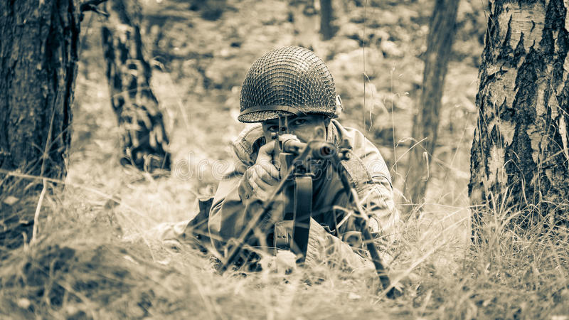 DDay - American Soldier. D-DAY HEL - American Soldier royalty free stock photo