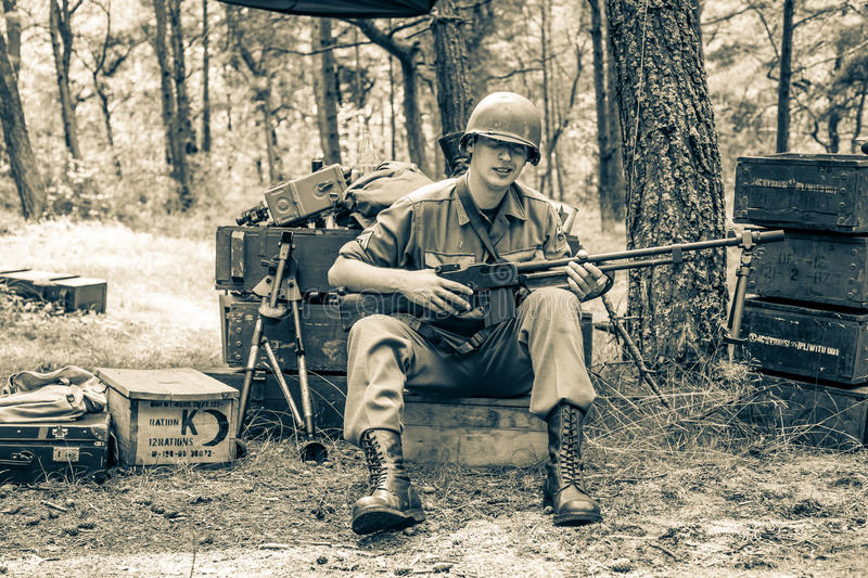 DDay - American Soldier. D-DAY HEL - American Soldier stock photos