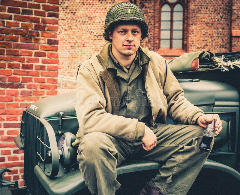 DDay - American Soldier. D-DAY HEL - American Soldier stock image