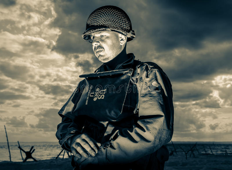 DDay - American Soldier. D-DAY HEL - American Soldier royalty free stock images
