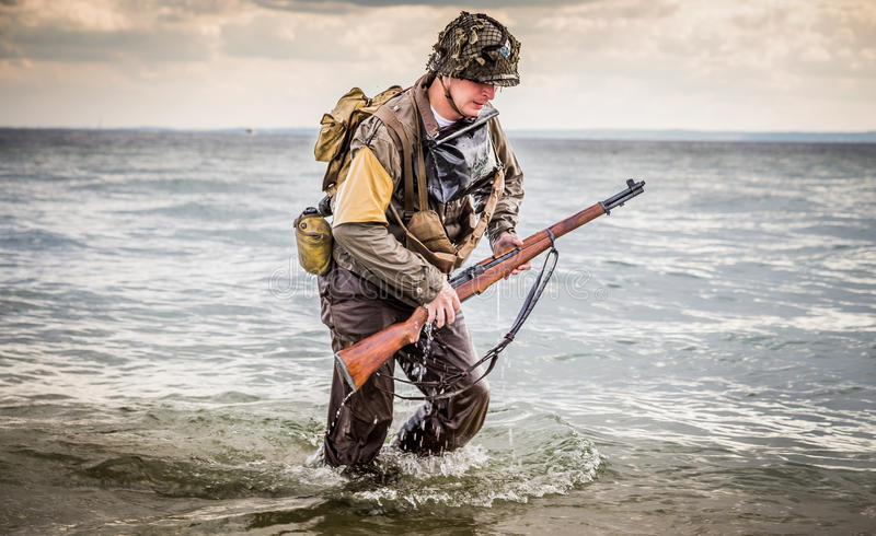 DDay - American Soldier. D-DAY HEL - American Soldier royalty free stock image