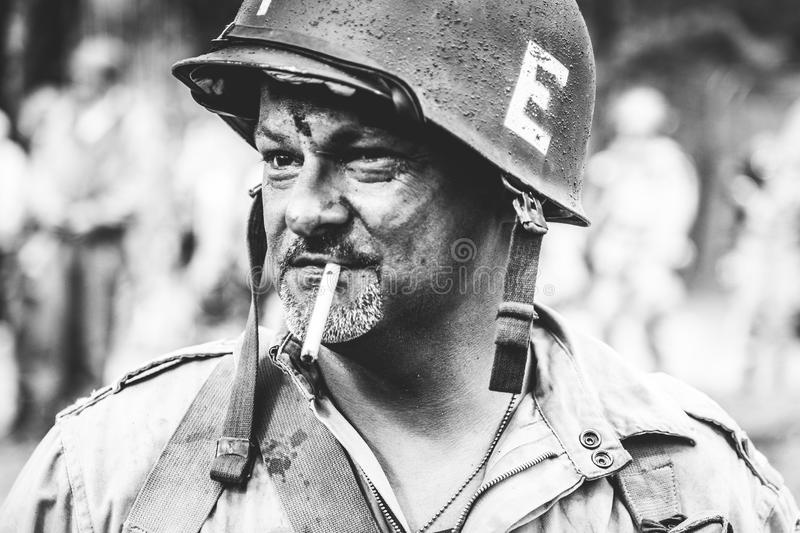 DDay - American Soldier. D-DAY HEL - American Soldier stock photo