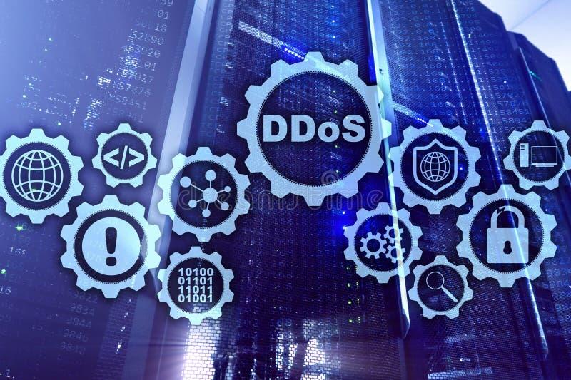 DDoS网络攻击 技术、互联网和保护网络概念 服务器datacenter背景 库存图片
