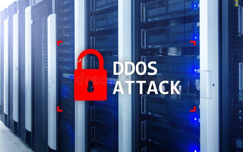 DDOS-Angriff, Cyberschutz Virus ermitteln Internet und Technologiekonzept lizenzfreie stockfotografie