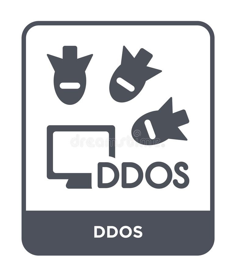 ddos icon in trendy design style. ddos icon isolated on white background. ddos vector icon simple and modern flat symbol for web royalty free illustration