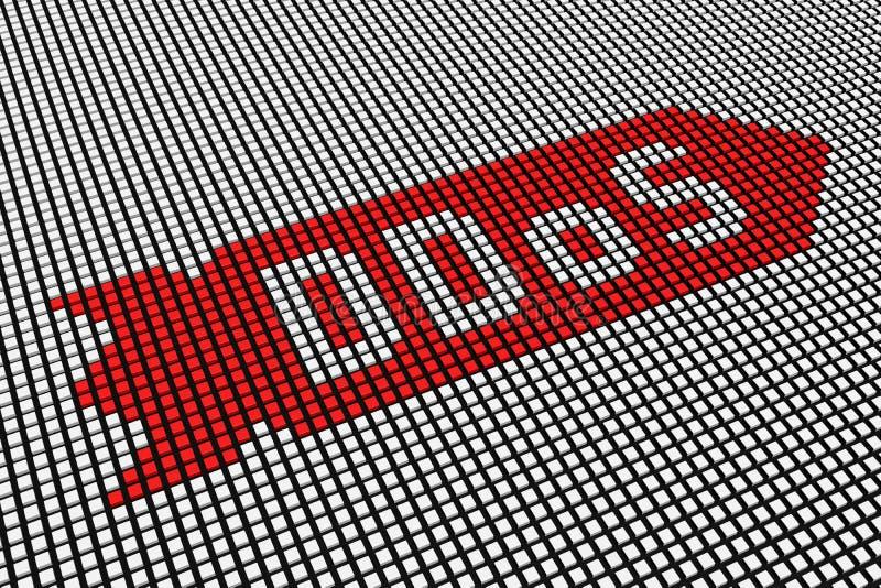 DDOS sous forme de tableau indicateur illustration de vecteur