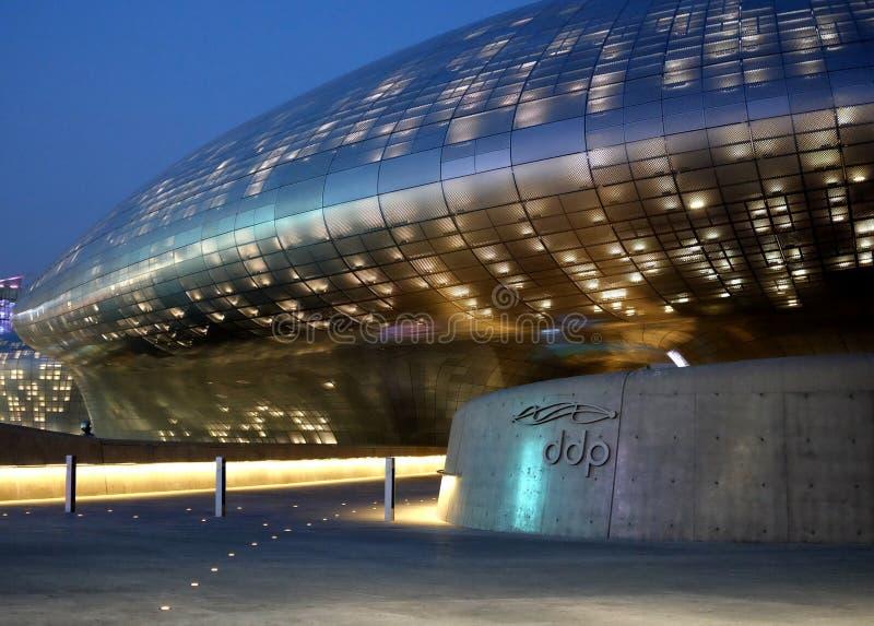 DDP -Dongdaemun设计广场在汉城,韩国 免版税库存图片