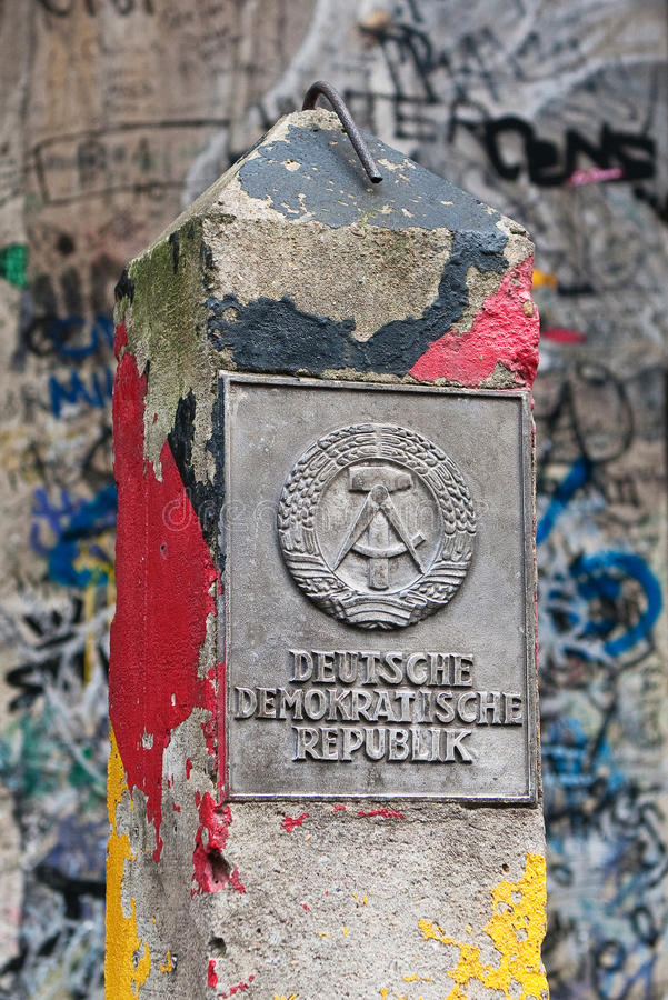 Free DDR Border Marker, East Berlin, Germany Royalty Free Stock Image - 67593666