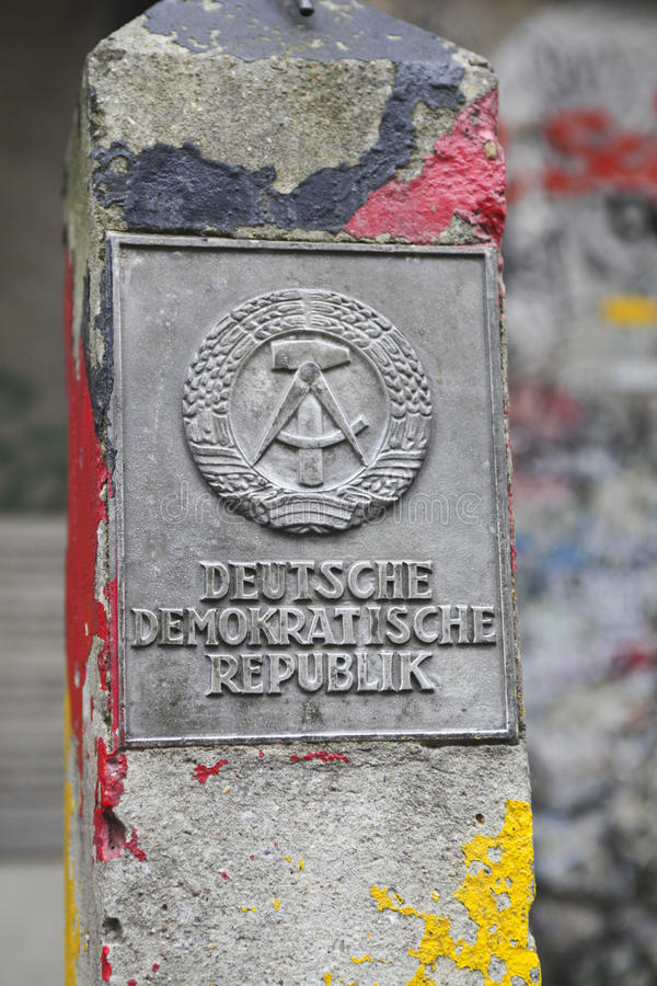 DDR fragment of wall royalty free stock photography