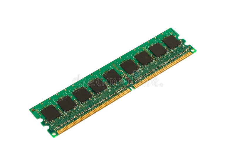 DDR Memory Module. Photo of DDR memory module stick front side view royalty free stock photos