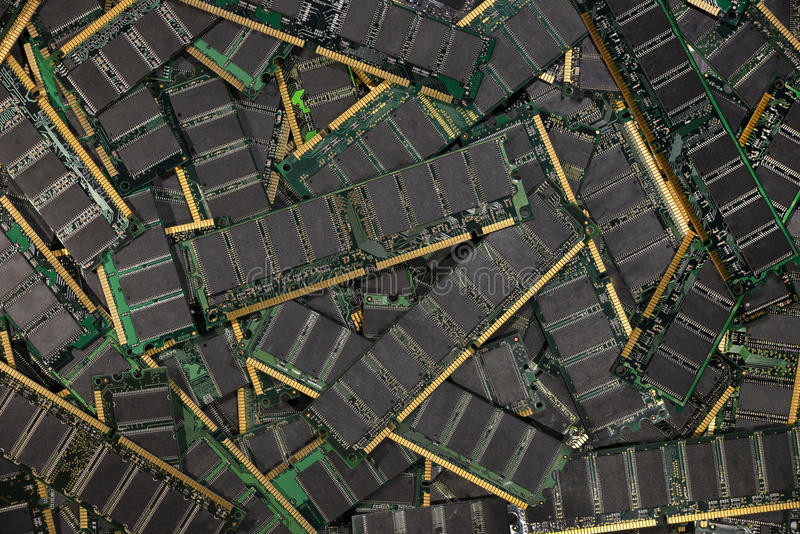 DDR RAM,计算机存贮器芯片模块 库存照片
