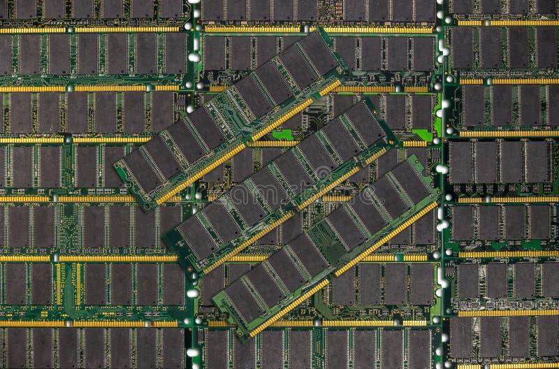 Ddr RAM, de spaandersmodules van het Computergeheugen royalty-vrije stock afbeelding