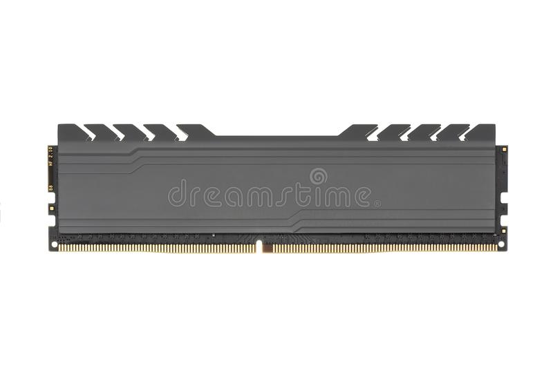DDR RAM memory module isolated on white background royalty free stock image