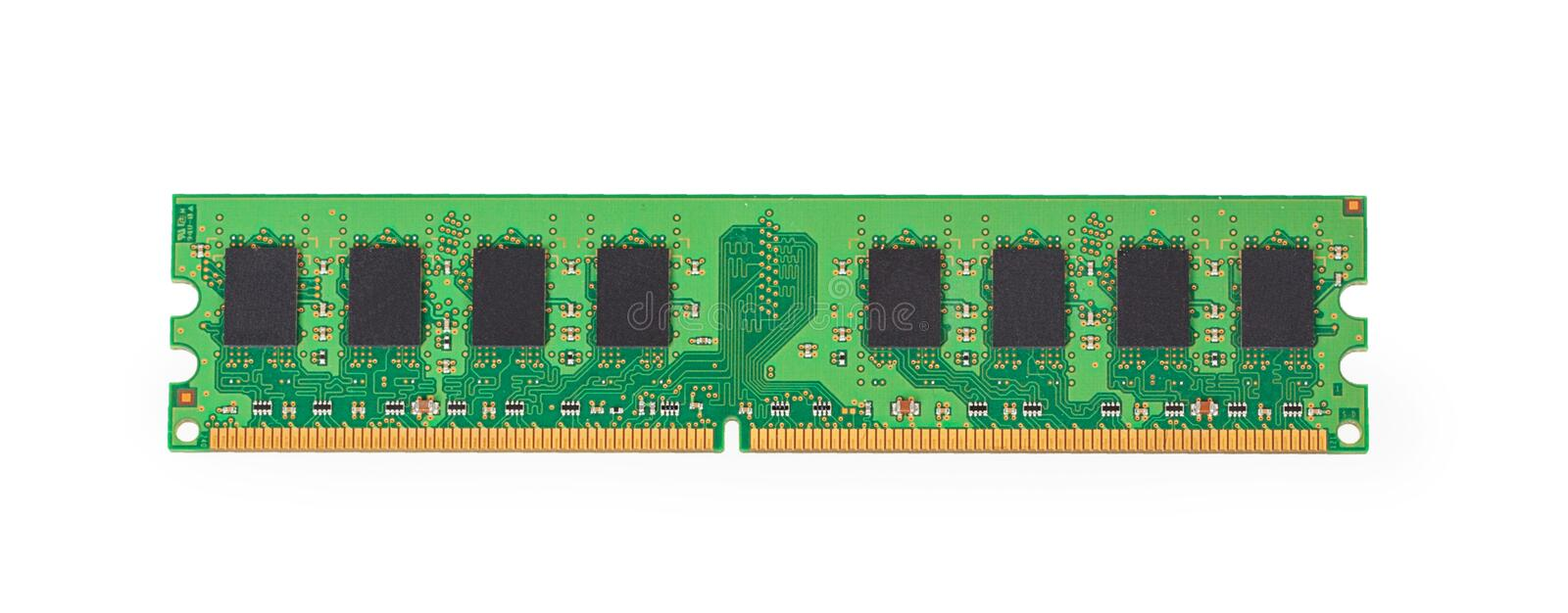 DDR2 memory module. Isolated on white background royalty free stock photography