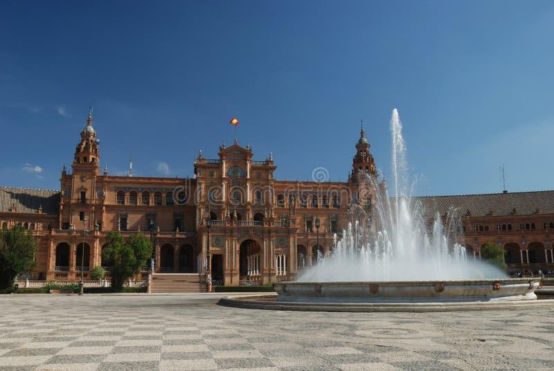 de西班牙广场塞维利亚 免版税库存图片