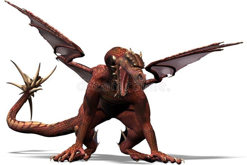 De één draak vector illustratie