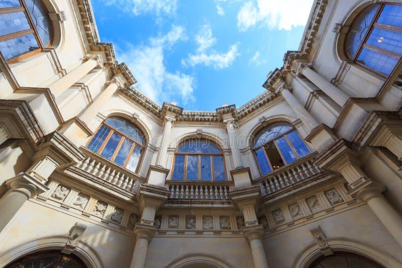 De één historische bouw in Heraklion Griekenland royalty-vrije stock afbeeldingen