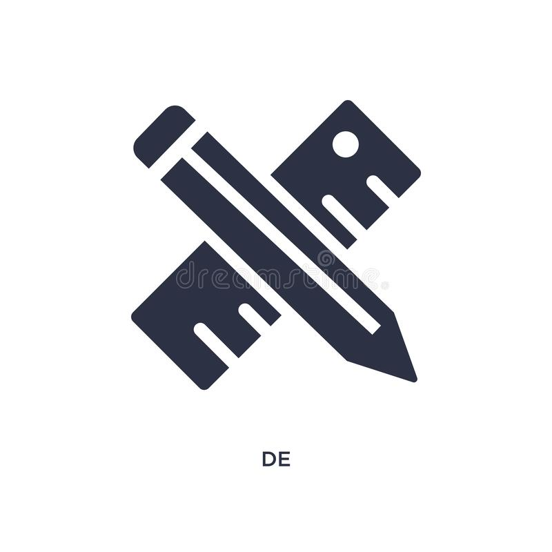 de ícone no fundo branco Ilustração simples do elemento do conceito criativo dos pocess ilustração stock