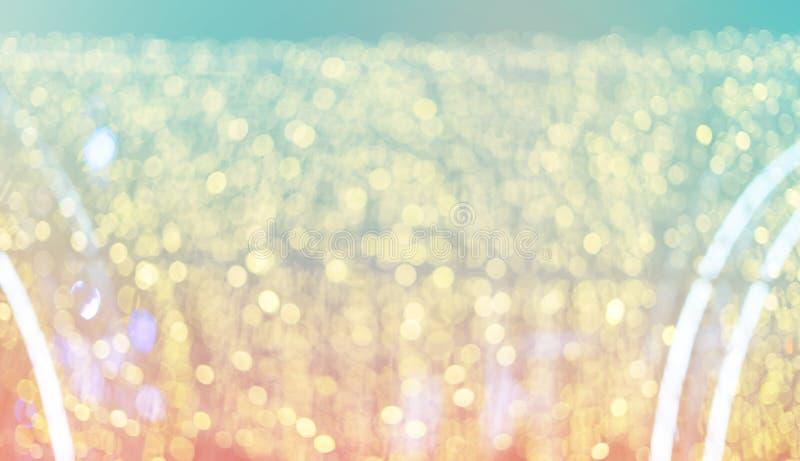 De сфокусировал свет bokeh, абстрактную предпосылку на фото ночи стоковые изображения rf