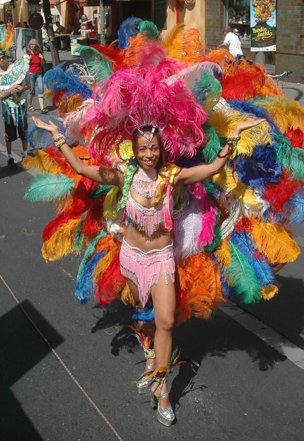 "De ""der Kulturen Karneval"" (Carneval das culturas) fotografia de stock"