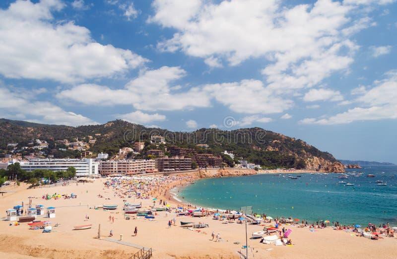 de 3月tossa 肋前缘Brava,卡塔龙尼亚,西班牙 免版税库存照片