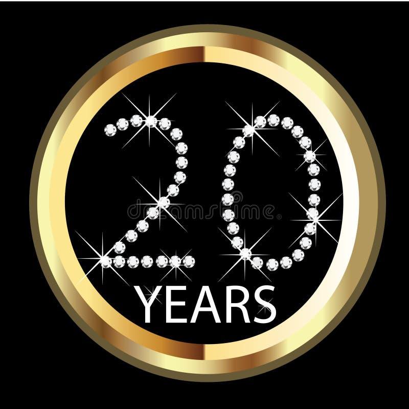 de 20ste jarenverjaardag royalty-vrije illustratie