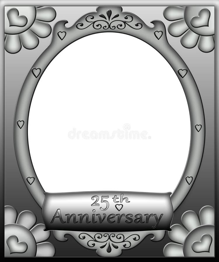 de 25ste Grens van het Frame van de Verjaardag stock illustratie