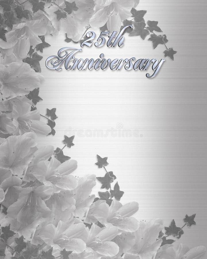 de 25Th uitnodiging van de Verjaardag van het Huwelijk stock illustratie