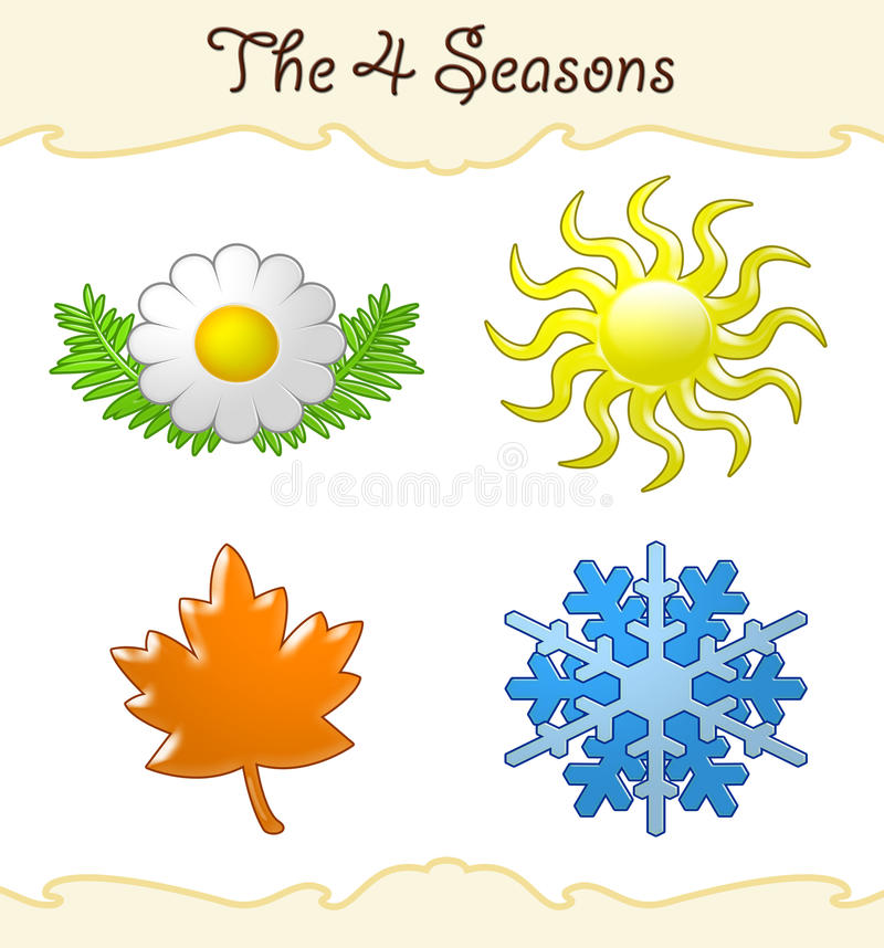 De 4 seizoenen royalty-vrije illustratie